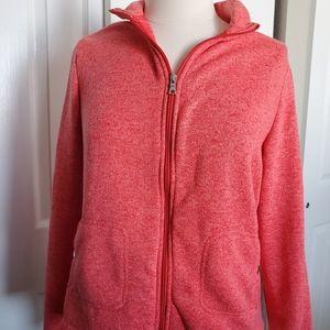 Croft & Barrow Warm  Pink Zip Up Sweater